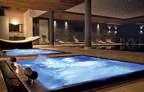 Construction d 39 une piscine d bordement sur mesure et installation spa jacuzzi de luxe - Jacuzzi de luxe ...